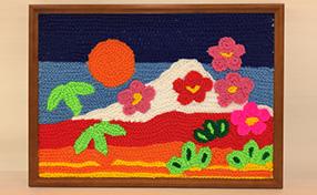 くさり編みで富士山を描こう