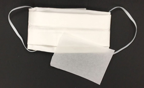 白いハンカチで縫わない簡易マスク