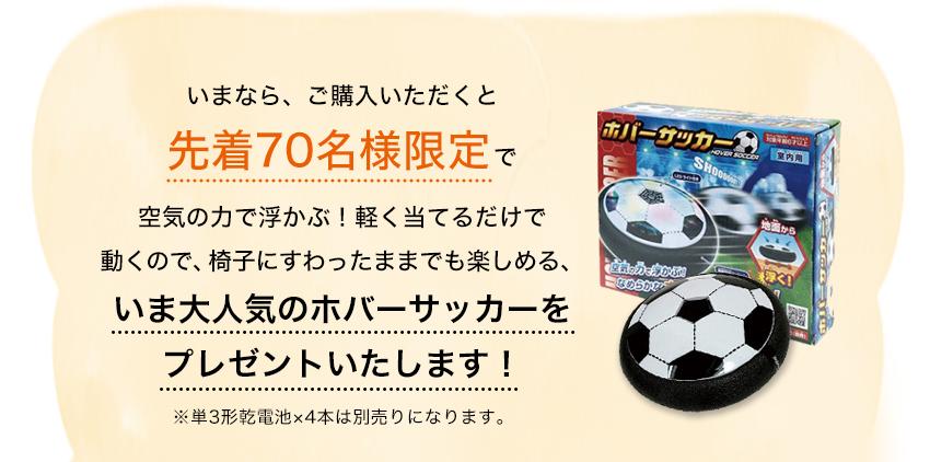 いま大人気のホバーサッカーをプレゼントいたします!