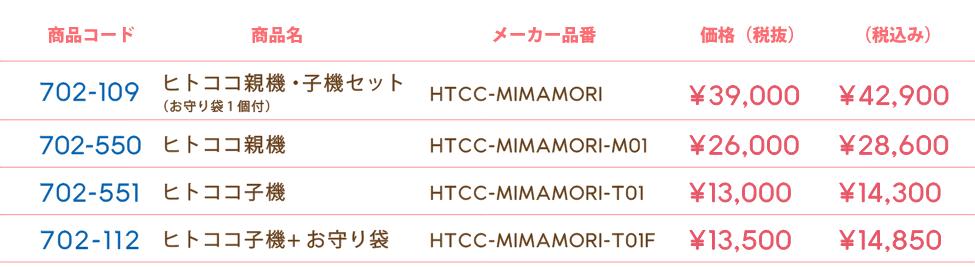 HITOCOCO 価格