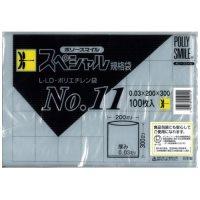 透明ポリ袋 ポリースマイル 100枚 No.11