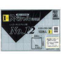 透明ポリ袋 ポリースマイル 100枚 No.12