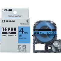 テプラPROテープ SC4B 青に黒文字 4mm