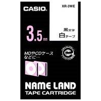 ラベルテープ XR-3WE 白に黒文字 3.5mm