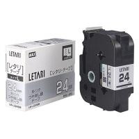 文字テープ LM-L524BM 艶消銀に黒文字 24mm