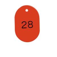 番号札 BN-L1 大 1-50 赤