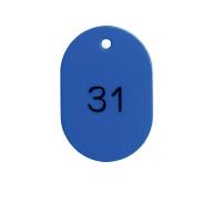 番号札 BN-L1 大 1-50 青