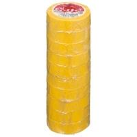 ビニールテープ NO200-19 19mm*10m 黄 10巻