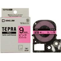 テプラPROテープ SC9P 桃に黒文字 9mm