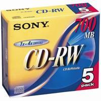 CD-RW <700MB> 5CDRW700D 5枚