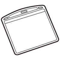 名札用替ケース パス名刺型横10枚 B073J