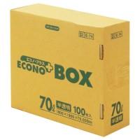 エコノプラスBOX E-74 半透明 70L 100枚