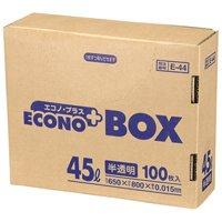 エコノプラスBOX E-44 半透明 45L 100枚