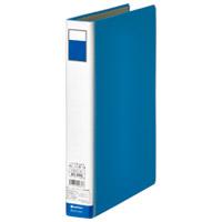 パイプ式ファイル片開き青10冊 D003J-10BL