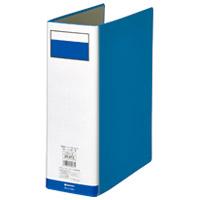 パイプ式ファイル両開き青10冊 D058J-10BL