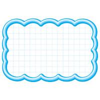 抜型カード 16-4117 雲形中 ブルー
