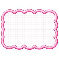 抜型カード 16-4196 雲形大 ピンク
