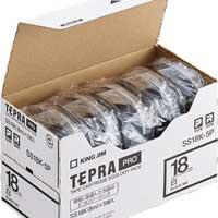 PROテープ SS18K-5P白に黒文字 18mm5個
