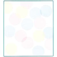色紙 33124006 水玉ブルー