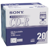 CD-R <700MB> 20CDQ80DPWA 20枚