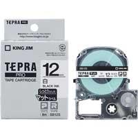 PROテープマット SB12S 白に黒文字 12mm