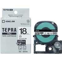 PROテープマット SB18S 白に黒文字 18mm
