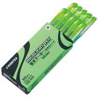 蛍光マーカー直液式 緑10本 H026J-GN-10_選択画像02