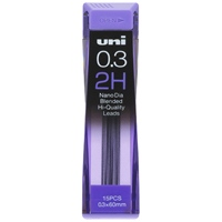 シャープペン替芯 ユニ 0.3mm U03202ND 2H