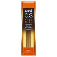 シャープペン替芯 ユニ 0.3mm U03202ND 2B