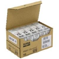 テプラPROテープ SS12K 白に黒文字12mm 5個