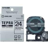 PROテープ備品管理 SM24XC 銀に黒文字 24mm_選択画像01
