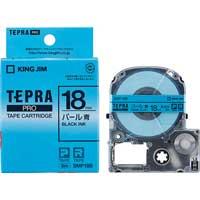 PROテープパール SMP18B 青に黒文字18mm