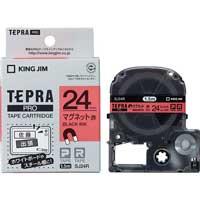 PROテープマグネットSJ24R 赤に黒文字 24mm