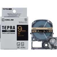 テプラPROテープ SC9KZ 黒に金文字 9mm