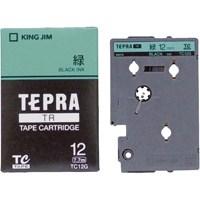 テプラTRテープTC12G 緑に黒文字 12mm