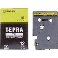 テプラTRテープ TC12Y 黄に黒文字 12mm