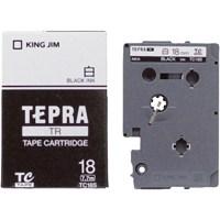 テプラTRテープ TC18S 白に黒文字 18mm