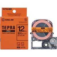 テプラPROテープSK12D 蛍光橙に黒文字 12mm