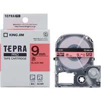 テプラPROテープ SC9R 赤に黒文字 9mm