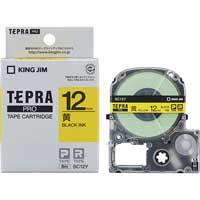 テプラPROテープ SC12Y 黄に黒文字 12mm
