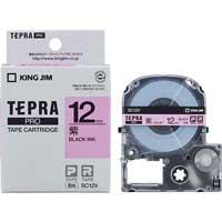テプラPROテープ SC12V 紫に黒文字 12mm