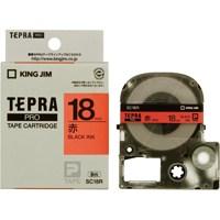 テプラPROテープ SC18R 赤に黒文字 18mm