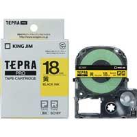 テプラPROテープ SC18Y 黄に黒文字 18mm