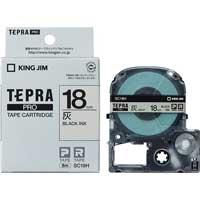 テプラPROテープ SC18H 灰に黒文字 18mm