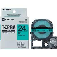 テプラPROテープ SC24G 緑に黒文字 24mm