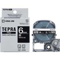 テプラPROテープ SD6K 黒に白文字 6mm
