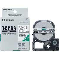 PROテープ紙ラベル SP36K 白に黒文字 36mm_選択画像01