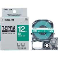 テプラPROテープ SD12G 緑に白文字 12mm