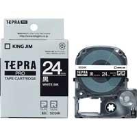 テプラPROテープ SD24K 黒に白文字 24mm