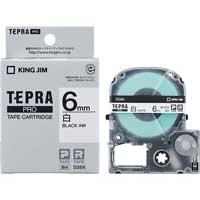 テプラPROテープ SS6K 白に黒文字 6mm